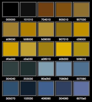Colore oro rgb