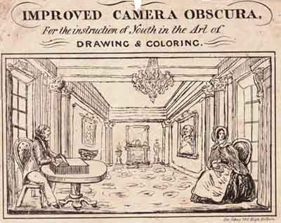 Camera oscura in pittura camera obscura camera lucida specchio claude black mirror ottica e - Lo specchio nell arte ...